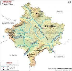 kosovo-physical-map