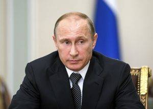 Russia's President Vladimir Putin chairs a meeting at the Novo-Ogaryovo state residence outside Moscow July 17, 2014.