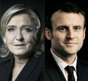 Cei doi finaliști aleși pentru marele duel din cei 11 candidați sunt Emmanuel Macron și Marine Le Pen