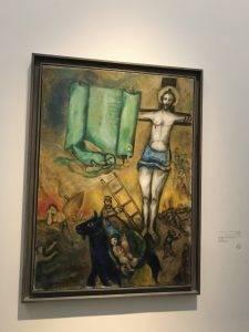 Crucificarea ]n galben, Marc Chagall