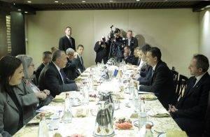 Foto exclusiv Q Magazine. Sorin Grindeanu și ministrul Apărării din Isreal, Avigdor Lieberman