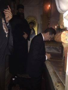Premierul Grindeanu, la Mormântul Sfânt. Foto exclusiv Q Magazine