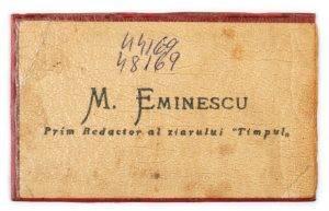Cartea de vizita a lui Mihai Eminescu Q Magazine