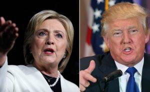 Hillary Clinton si Donald Trump, in campania prezidentiala Q Magazine