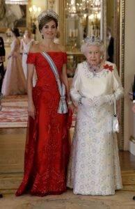 Regina Letizia, la Palatul Buckingham, Q Magazine