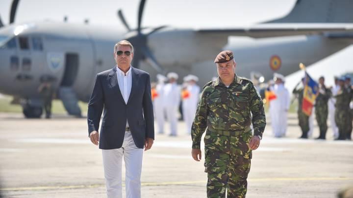 presedintele Klaus Iohannis la baza Kogalniceanu