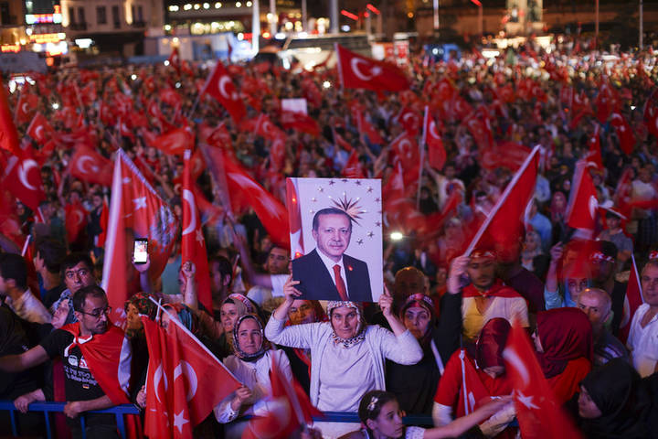 miting de susținere a lui Erdogan, 22 iulie 2016