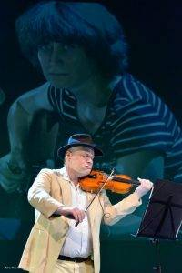 Ada Milea si violonistul-compozitor Alexander Balanescu, Q Magazine