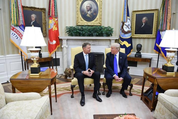 Preşedintele Klaus Iohannis faţă către faţă cu preşedintele Donald Trump - 9 iunie 2017