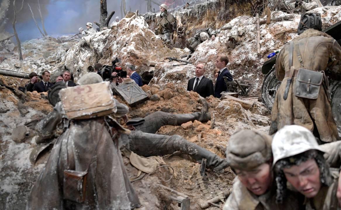 Putin la un muzeu din Rusia