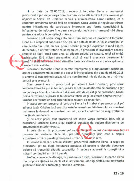 Documente exclusive Q Magazine – Inspectia Judiciară12-16