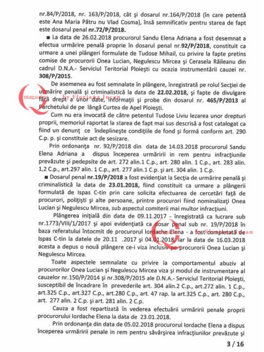 Documente exclusive Q Magazine – Inspectia Judiciară3-16