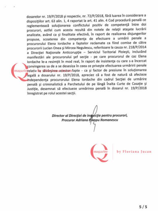 Documente exclusive Q Magazine – Inspectia Judiciară5-5