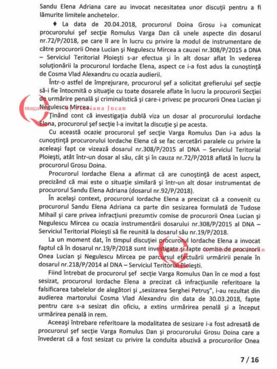 Documente exclusive Q Magazine – Inspectia Judiciară7-16