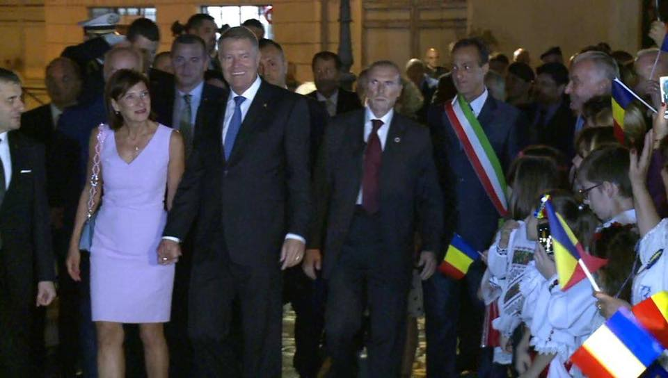 Carmen Iohannis și Klaus Iohannis la Roma