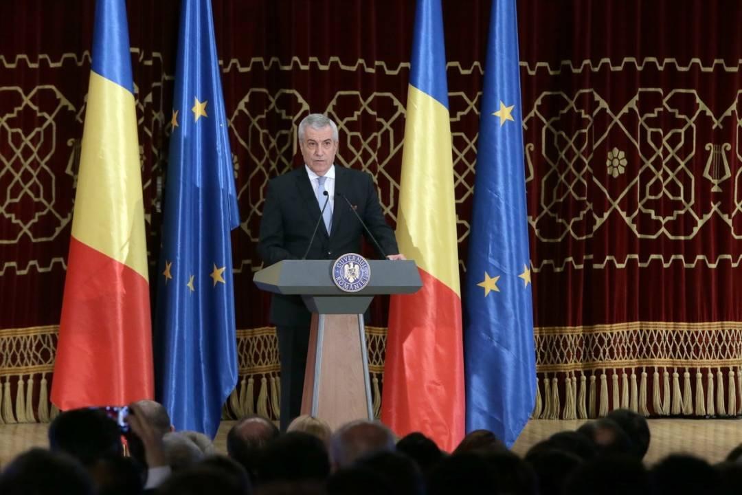 Ceremonia oficială de lansare a Președinției României la Consiliul Uniunii Europene-Calin Popescu Tariceanu-Guv.ro