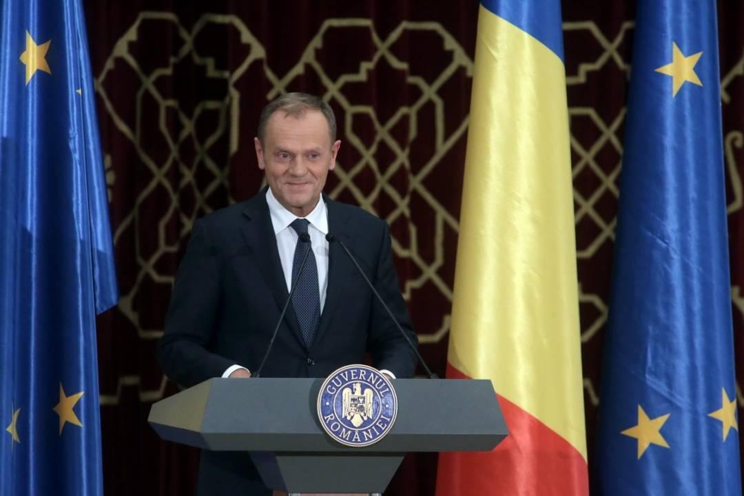 Ceremonia oficială de lansare a Președinției României la Consiliul Uniunii Europene-Donald Tusk-Guv.ro