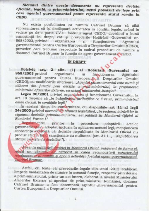 Document exclusiv QMagazine – Plangere penala Catrinel Brumar – CEDO (2)